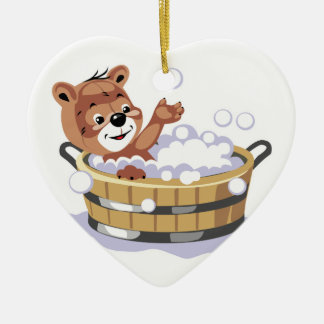 oso lindo del baño de burbujas adorno de reyes