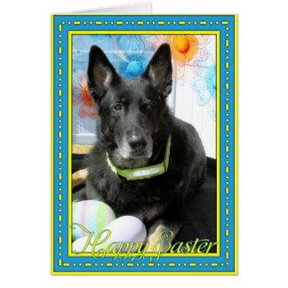 Oso - pastor alemán tarjeta de felicitación