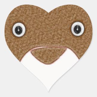 Oso Pegatina En Forma De Corazón
