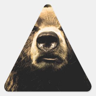 Oso Pegatina Triangular