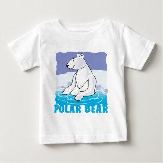 Oso polar amistoso del niño camiseta para bebé