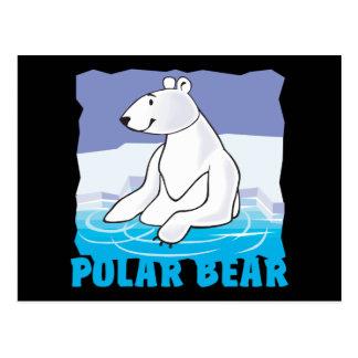 Oso polar amistoso del niño postal