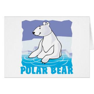 Oso polar amistoso del niño felicitacion