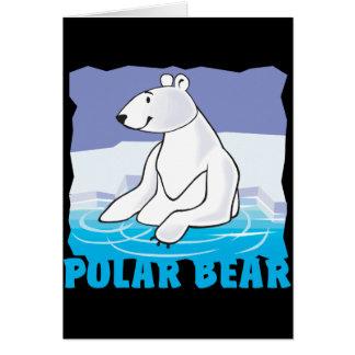 Oso polar amistoso del niño tarjeta de felicitación