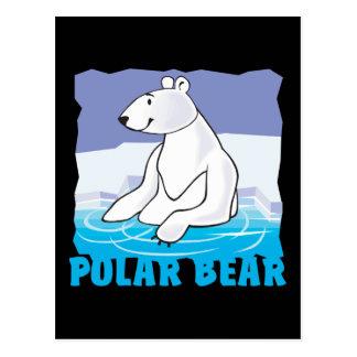 Oso polar amistoso del niño tarjeta postal