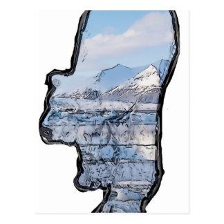 Oso polar ártico postal