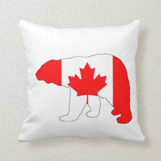 "Oso polar ""Canadá "" Cojín Decorativo"