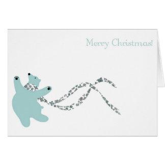 Oso polar de baile tarjeta de felicitación