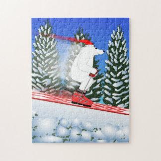Oso polar de esquí puzzle