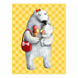 Oso polar de la madre postal
