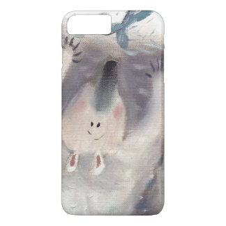 Oso polar e iphone oilpainting de los pescados funda iPhone 7 plus