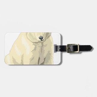 Oso polar mimoso etiqueta para maletas