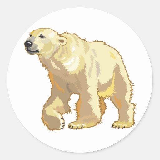 oso polar etiquetas redondas