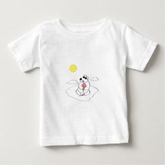 Oso polar que come el cono de helado camisas