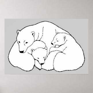 Oso polar y decoración del hogar de la fauna de la posters
