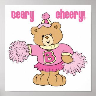 Oso que anima alegre de Beary Posters