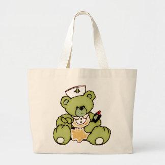 Oso verde oliva de la enfermera bolsa