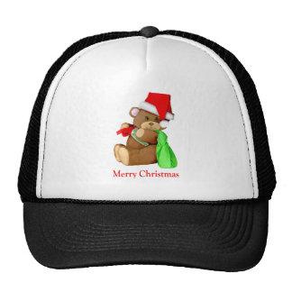 Oso WishesYou de Santa Felices Navidad Gorras