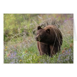 Osos de Alaska - tarjeta en blanco