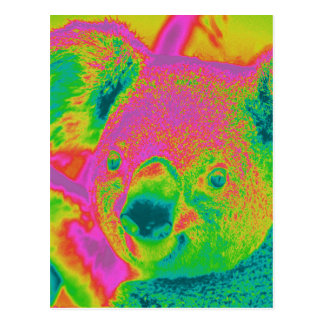 osos de koala fluorescentes postal