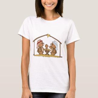 osos de la natividad - navidad camiseta