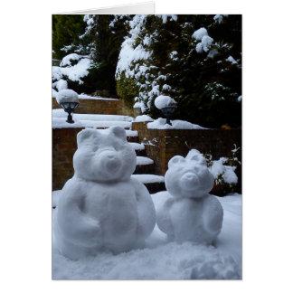 Osos de la nieve tarjeta de felicitación