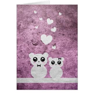 Osos del amor - tarjeta