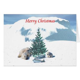 Osos del navidad tarjeta de felicitación