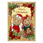 Osos dulces del navidad - verso dentro tarjetas