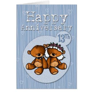 osos felices del aniversario - 13 años felicitacion
