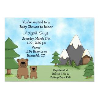 Osos, montañas e invitaciones de la fiesta de invitación 12,7 x 17,8 cm