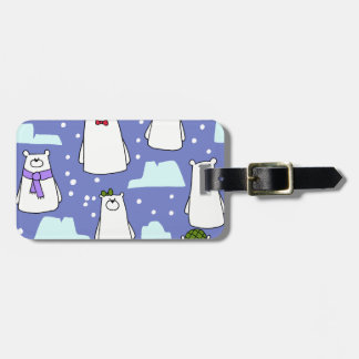 osos polares etiquetas para maletas