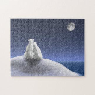 Osos polares por rompecabezas del claro de luna