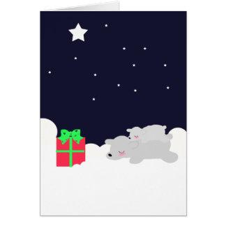 Osos polares y estrellas MUY LINDOS de la tarjeta