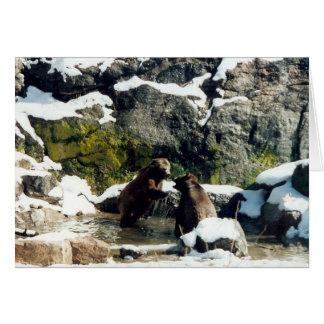 osos tarjeta de felicitación
