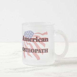 Osteópata americano taza cristal mate