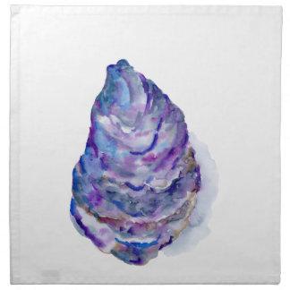 Ostra abstracta Shell de la acuarela Servilleta De Tela