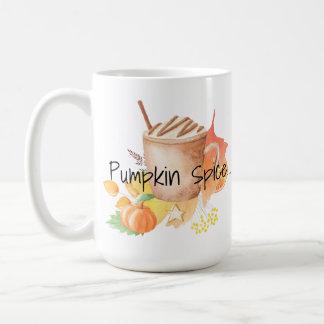 Otoño/caída de los gustos de la especia de la taza de café