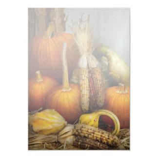 Otoño - calabaza - calabazas y maíz comunicado personalizado