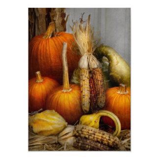 Otoño - calabaza - calabazas y maíz invitaciones personalizada