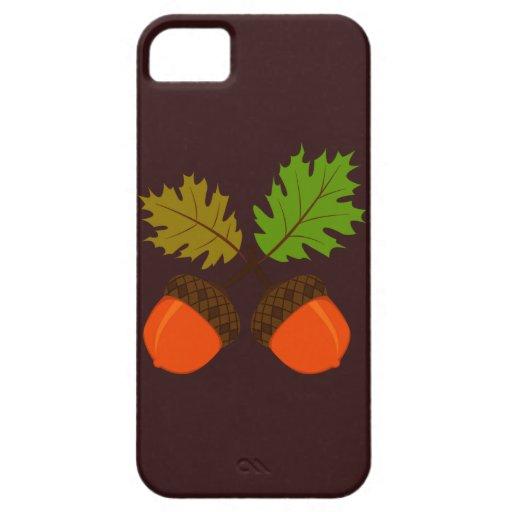 Otoño de la acción de gracias retro iPhone 5 Case-Mate cárcasa