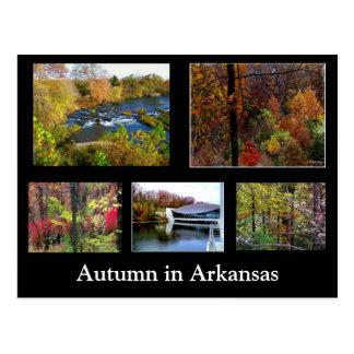 Otoño en postal de la fotografía de Arkansas