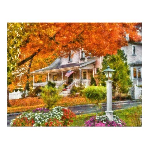 Otoño - Westfield, NJ - la belleza del otoño Tarjeta Publicitaria