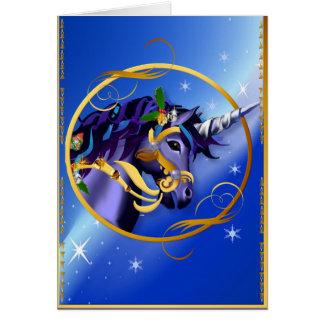 Otra tarjeta de cara mágica del unicornio del
