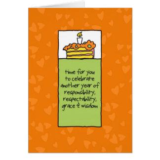 Otro año de responsabilidad tarjeta de felicitación