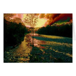 Otro río, otra puesta del sol tarjeta