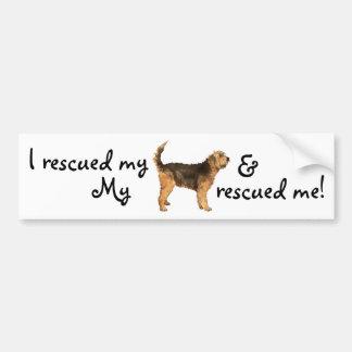 Otterhound del rescate pegatina para coche