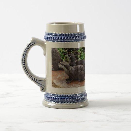 Otterly a lindo, nutria, taza de Stein de la
