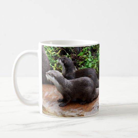 Otterly a lindo, nutria, taza del café con leche