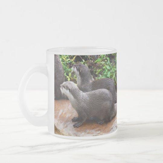 Otterly a lindo, nutria, taza del vidrio